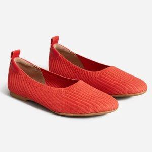 NIB Everlane Red ReKnit Day Glove Flats